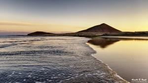 Atardecer en la playa del Médano