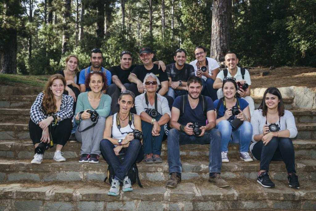 Foto grupo curso fotografia Tenerife Abril