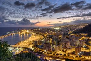Atardecer en Santa Cruz de Tenerife desde barrio La Alegría - Vicente R. Bosch
