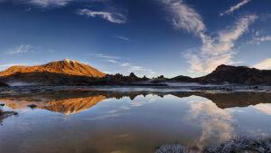 Amanecer y panorámica con reflejo del Teide en Llano Ucanca - Vicente R. Bosch