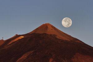 Pico Teide y super luna de agosto 2014 - Vicente R. Bosch
