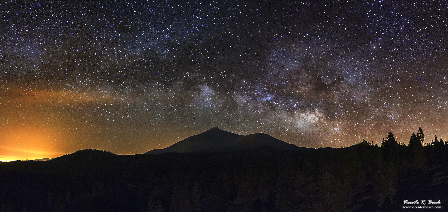 Vía Láctea sobre el Teide