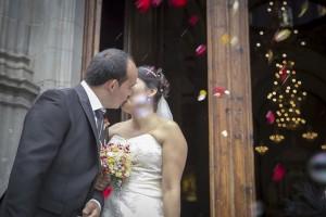 Matrimonio. Beso de boda. Tenerife