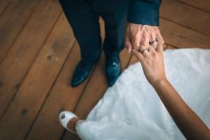 Anillos recién casados