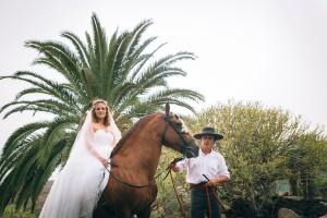 Novia en caballo